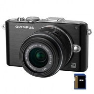 Цифровой фотоаппарат OLYMPUS PEN E-PL3 14-42 mm kit black/black (V20503BBE000/V205031BE000)