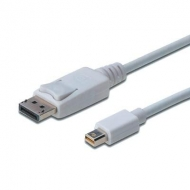 Кабель мультимедийный miniDisplayPort to DisplayPort 1.0m DIGITUS (AK-340102-010-W)