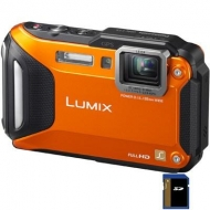Цифровой фотоаппарат PANASONIC Lumix DMC-FT5 orange (DMC-FT5EA-D)