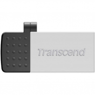 USB флеш накопитель Transcend 32G On-The-Go Silver USB 2.0 (TS32GJF380S)