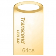 USB флеш накопитель Transcend 64GB JetFlash 710 Metal Gold USB 3.0 (TS64GJF710G)