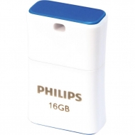USB флеш накопитель PHILIPS 16GB Pico Blue USB 2.0 (FM16FD85B/97)