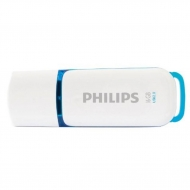 USB флеш накопитель PHILIPS 16GB Snow Blue USB 2.0 (FM16FD70B/97)