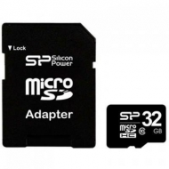 Карта памяти Silicon Power 32Gb microSDHC class 10 (SP032GBSTH010V10SP)