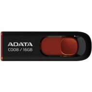 USB флеш накопитель ADATA 16Gb C008 Black/Red USB 2.0 (AC008-16G-RKD)