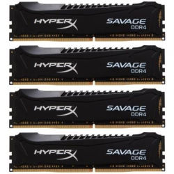 Модуль памяти для компьютера DDR4 16GB (4x4GB) 2666 MHz HyperX Savage Black Kingston (HX426C13SBK4/16)