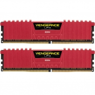 Модуль памяти для компьютера DDR4 16GB (2x8GB) 3000 MHz Vengeance LPX Red CORSAIR (CMK16GX4M2B3000C15R)