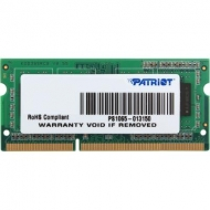 Модуль памяти для ноутбука SoDIMM DDR3 2GB 1600 MHz Patriot (PSD32G1600L81S)