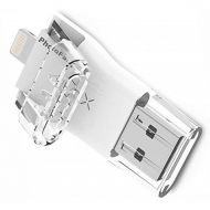 USB флеш накопитель PhotoFast 128GB i-Flashdrive Max Gen2 U3 White USB 3.0 - Lightning (IFDMAXG2128GB)