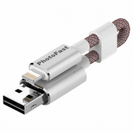 USB флеш накопитель PhotoFast 32GB MemoriesCable GEN3 Silver Lightning USB 2.0 (MCG3U3R32GB)