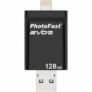 USB флеш накопитель PhotoFast 128GB i-Flashdrive EVO Plus USB3.0-microUSB/Lightning (EVOPLUS128GBU3)