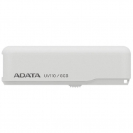 USB флеш накопитель ADATA 8GB DashDrive UV110 White USB 2.0 (AUV110-8G-RWH)