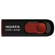 USB флеш накопитель ADATA 64GB C008 Black+Red USB 2.0 (AC008-64G-RKD)