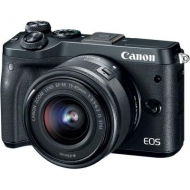 Цифровой фотоаппарат Canon EOS M6 15-45 IS STM Black Kit (1724C043AA)