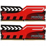Модуль памяти для компьютера DDR4 16GB (2x8GB) 3200 MHz EVO Forza Hot-Rod Red GEIL (GFR416GB3200C16ADC)