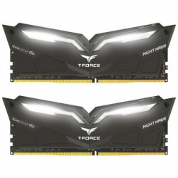 Модуль памяти для компьютера DDR4 32GB (2x16GB) 3000 MHz T-Force Night Hawk Black LED/Whi Team (THWD432G3000HC16CDC01)