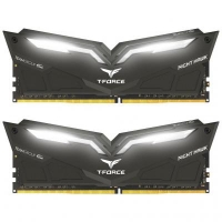 Модуль памяти для компьютера DDR4 16GB (2x8GB) 2666 MHz T-Force Night Hawk Black LED/Whit Team (THWD416G2666HC15BDC01)