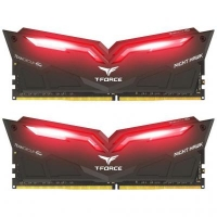 Модуль памяти для компьютера DDR4 16GB (2x8GB) 3200 MHz T-Force Night Hawk Black LED/Red Team (THRD416G3200HC16CDC01)