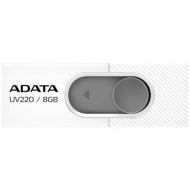 USB флеш накопитель A-DATA 8GB UV220 White/Gray USB 2.0 (AUV220-8G-RWHGY)