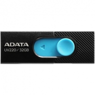 USB флеш накопитель ADATA 32GB UV220 Black/Blue USB 2.0 (AUV220-32G-RBKBL)