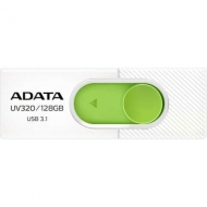 USB флеш накопитель ADATA 128GB UV320 White/Green USB 3.1 (AUV320-128G-RWHGN)