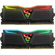Модуль памяти для компьютера DDR4 16GB (2x8GB) 2400 MHz Super Luce Black RGB LED GEIL (GLC416GB2400C16DC)
