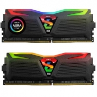 Модуль памяти для компьютера DDR4 16GB (2x8GB) 2400 MHz Super Luce Black RGB Sync LED GEIL (GLS416GB2400C16DC)