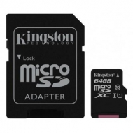 Карта памяти Kingston 64GB microSDXC class 10 UHS-I Canvas Select (SDCS/64GB)