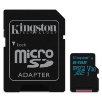 Карта памяти Kingston 64GB microSDXC class 10 UHS-I U3 Canvas Go (SDCG2/64GB)