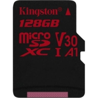 Карта памяти Kingston 128GB microSDXC class 10 UHS-I U3 (SDCR/128GBSP)