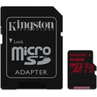 Карта памяти Kingston 64GB microSDXC class 10 UHS-I U3 (SDCR/64GB)