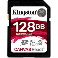 Карта памяти Kingston 128GB SDXC class 10 UHS-I U3 (SDR/128GB)