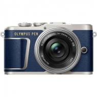 Цифровой фотоаппарат OLYMPUS E-PL9 14-42 mm Pancake Zoom Kit blue/silver (V205092UE000)