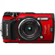Цифровой фотоаппарат OLYMPUS TG-5 Red (Waterproof - 15m; GPS; 4K; Wi-Fi) + case (V104190RE010)