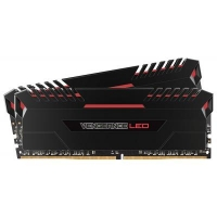 Модуль памяти для компьютера DDR4 16GB (2x8GB) 3000 MHz Vengeance Led Red CORSAIR (CMU16GX4M2D3000C16R)