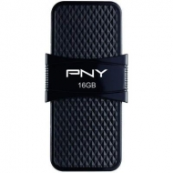 USB флеш накопитель PNY flash 16GB Duo Link Micro Black OTG USB 3.0 (P-FD16GOTGSLMB-GE)