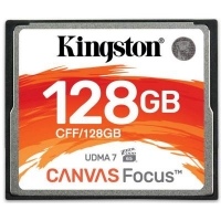 Карта памяти Kingston Compact Flash Card 128Gb Canvas Focus UDMA7 (CFF/128GB)