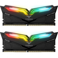 Модуль памяти для компьютера DDR4 32GB (2x16GB) 3200 MHz T-Force Night Hawk RGB Black Team (TF1D432G3200HC16CDC0)