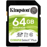 Карта памяти Kingston 64GB SDXC class 10 UHS-I U3 Canvas Select Plus (SDS2/64GB)