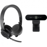 Наушники Logitech Pro Personal Video Collaboration Kit (Zone Wireless + BRIO) (991-000309)