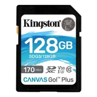 Карта памяти Kingston 128GB SDXC class 10 UHS-I U3 Canvas Go Plus (SDG3/128GB)